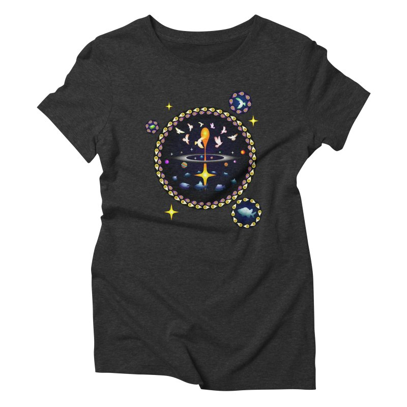 Universe of sky and sea Women's Triblend T-Shirt by Universe Deep Inside