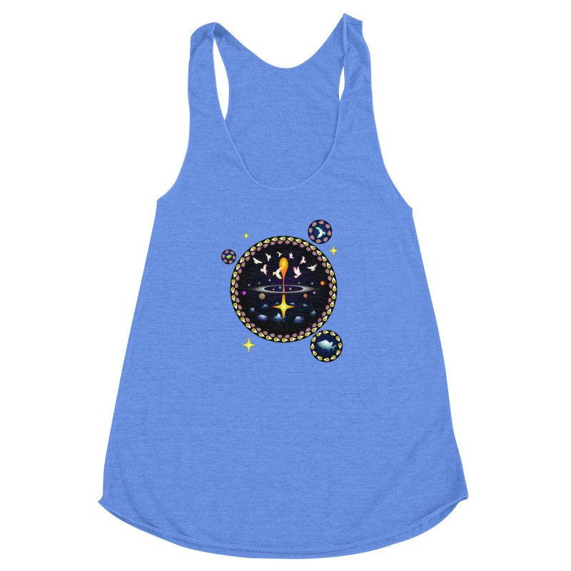 Universe of sky and sea Women's Racerback Triblend Tank by Universe Deep Inside