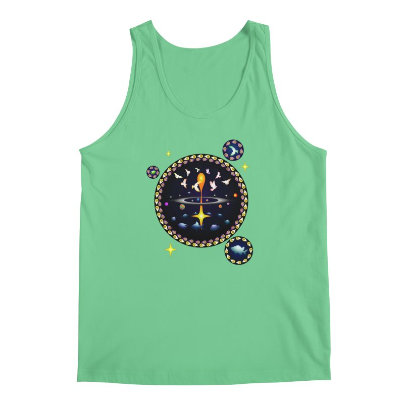 Universe of sky and sea Men's Tank by Universe Deep Inside