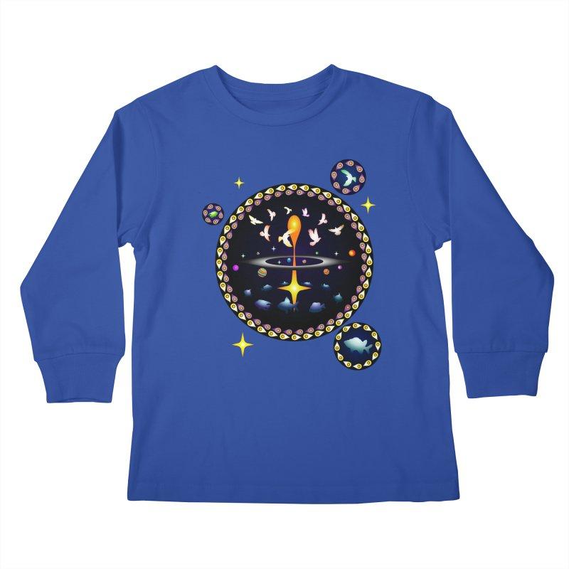 Universe of sky and sea Kids Longsleeve T-Shirt by Universe Deep Inside