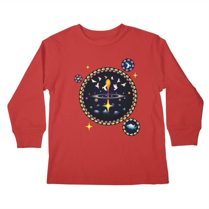 Universe of sky and sea Kids Longsleeve T-Shirt by Universe Deep Inside
