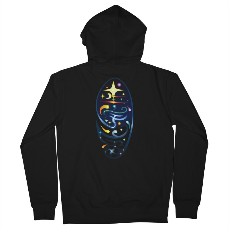 Star . Universe Men's Zip-Up Hoody by Universe Deep Inside