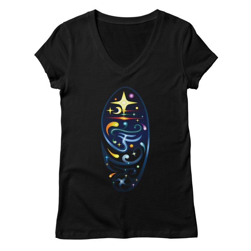 Star . Universe Women's V-Neck by Universe Deep Inside