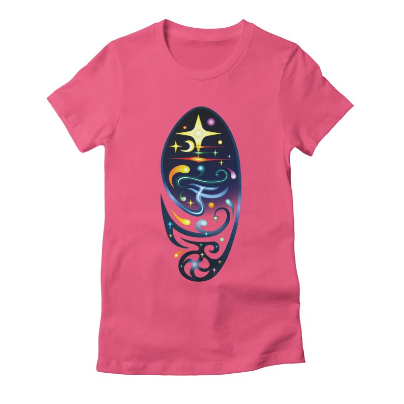 Star . Universe Women's Fitted T-Shirt by Universe Deep Inside