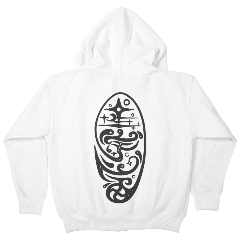 Star universe calligraphic style Kids Zip-Up Hoody by Universe Deep Inside