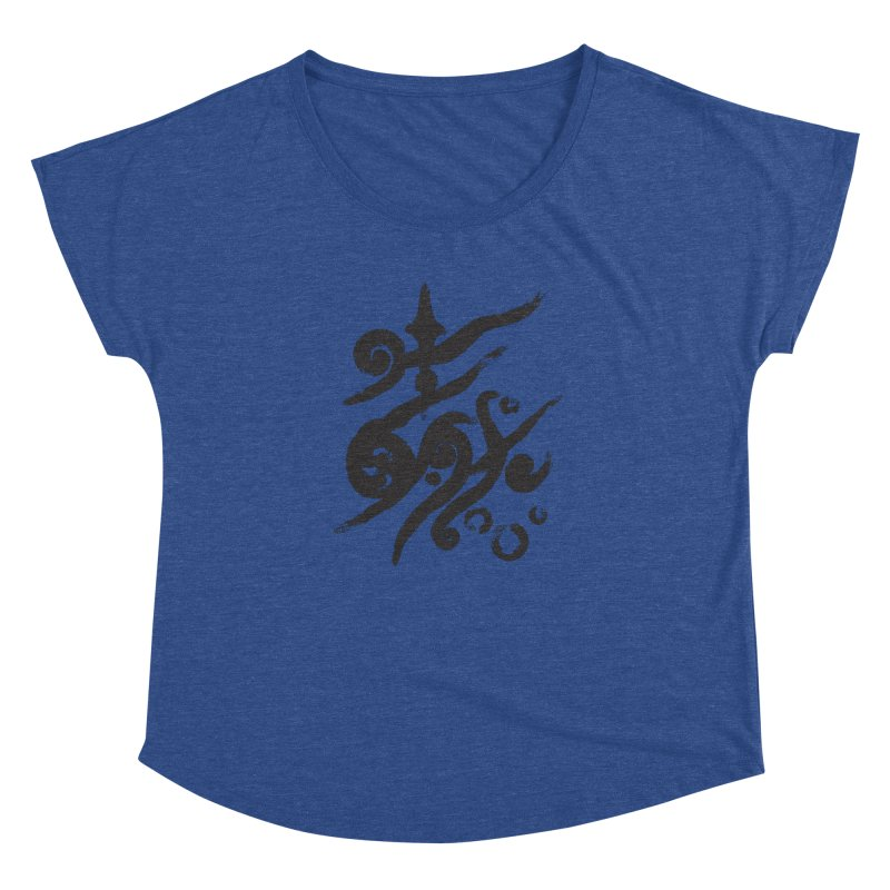 Life . nature in calligraphic style Women's Dolman by Universe Deep Inside