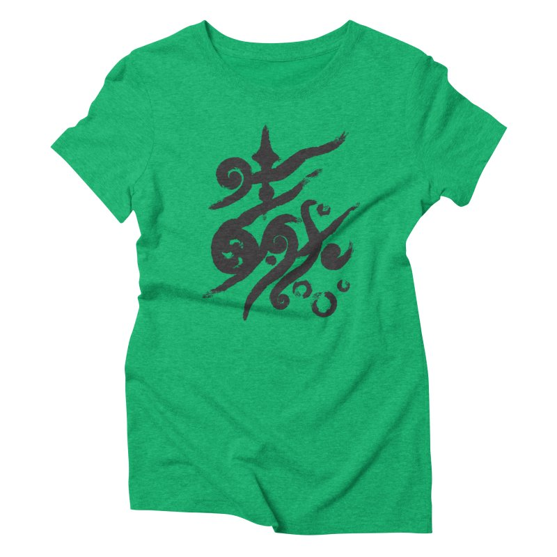 Life . nature in calligraphic style Women's Triblend T-shirt by Universe Deep Inside