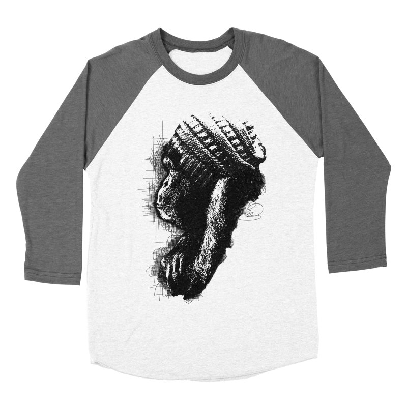 Cool Monkey Women's Baseball Triblend T-Shirt by udegbunamtbj's Artist Shop