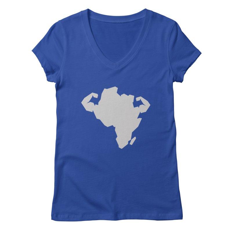 AFRI-CAN Women's V-Neck by udegbunamtbj's Artist Shop
