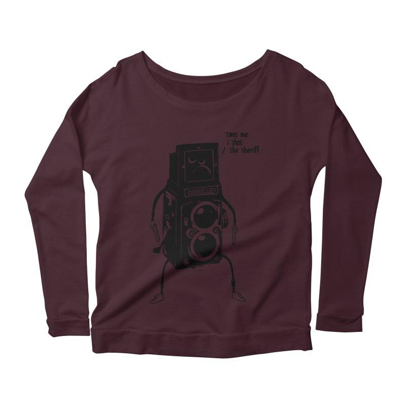 Bad Camera Women's Longsleeve Scoopneck  by udegbunamtbj's Artist Shop