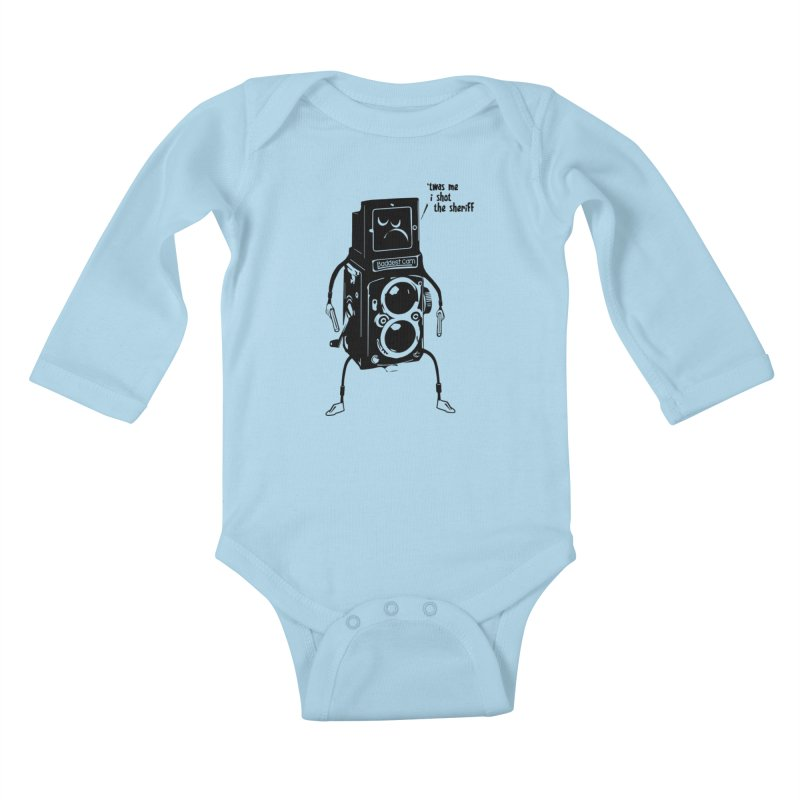 Bad Camera Kids Baby Longsleeve Bodysuit by udegbunamtbj's Artist Shop