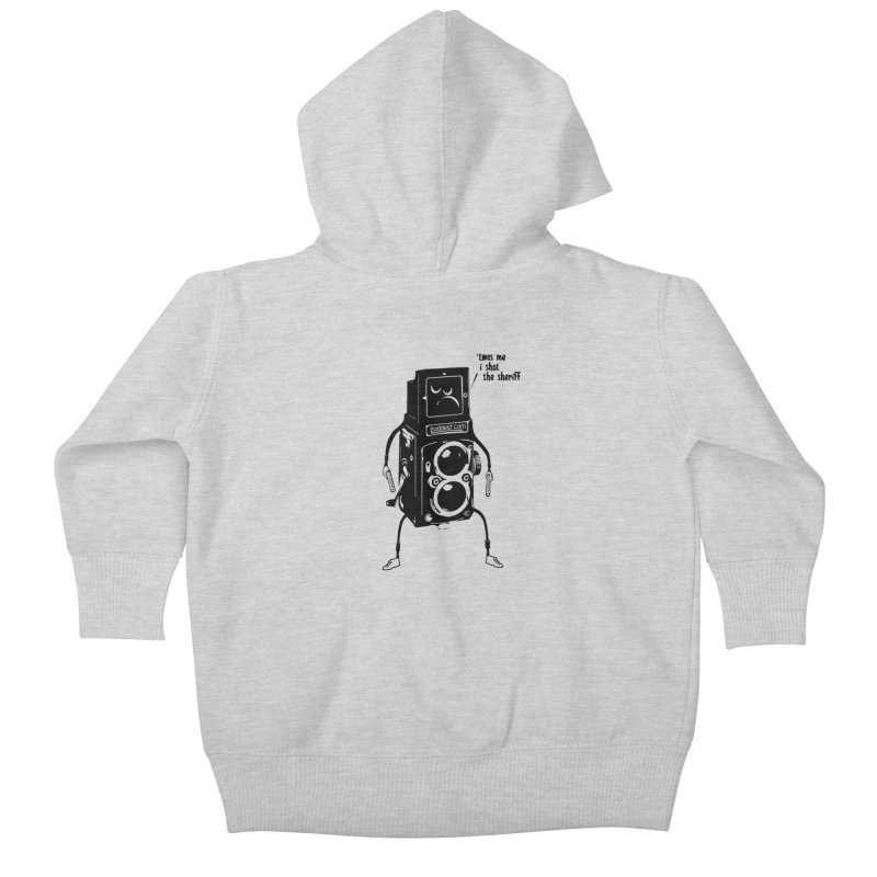Bad Camera Kids Baby Zip-Up Hoody by udegbunamtbj's Artist Shop
