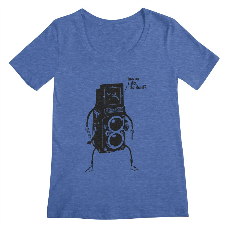 Bad Camera Women's Scoopneck by udegbunamtbj's Artist Shop