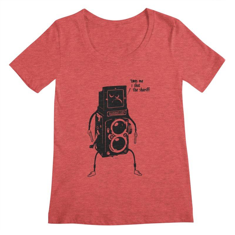 Bad Camera Women's Scoopneck by udegbunamtbj's Artist Shop