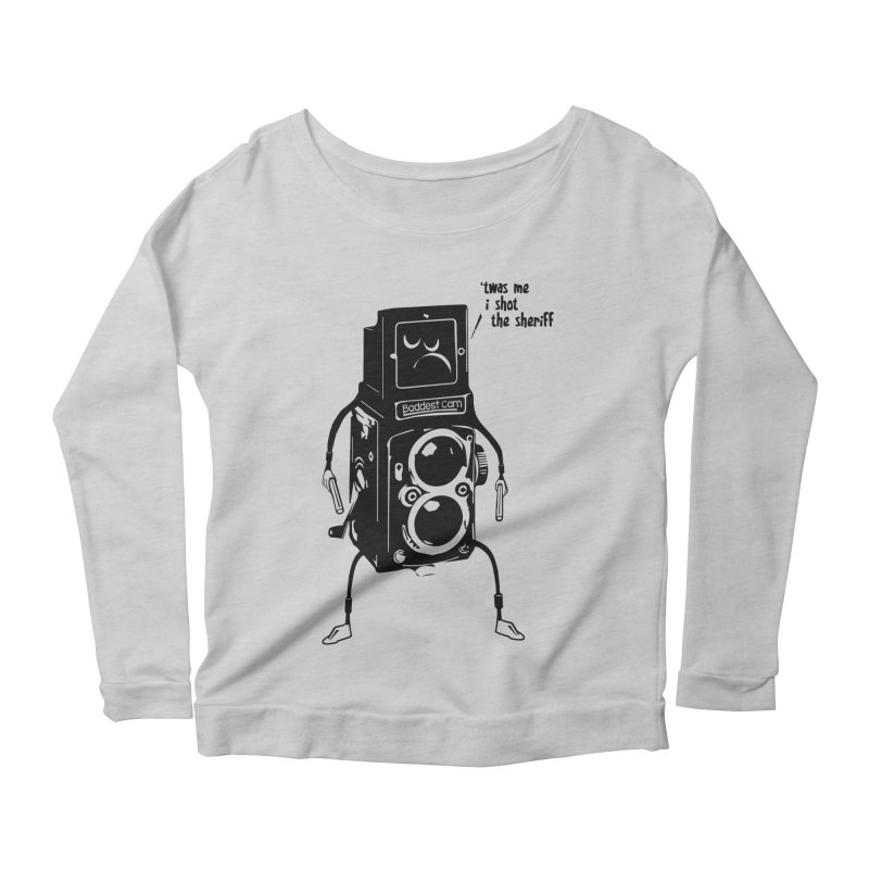 Bad Camera Women's Longsleeve Scoopneck  by udegbunamtbj's Artist Shop