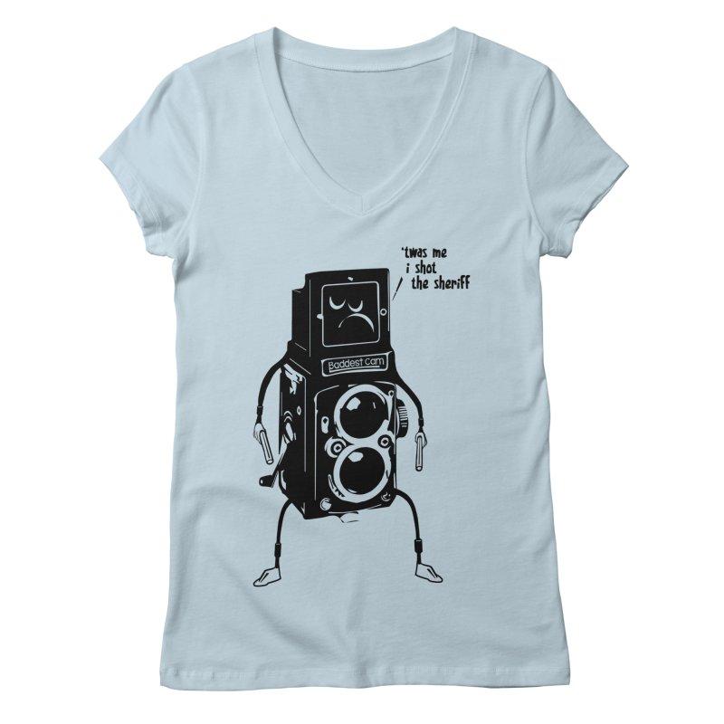Bad Camera Women's V-Neck by udegbunamtbj's Artist Shop