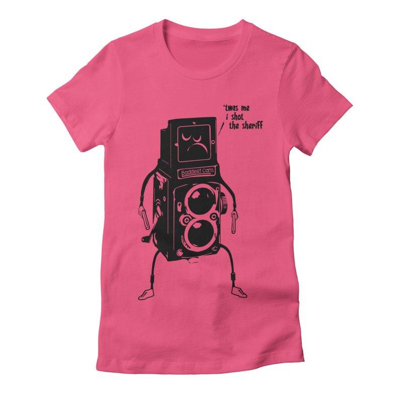Bad Camera Women's Fitted T-Shirt by udegbunamtbj's Artist Shop