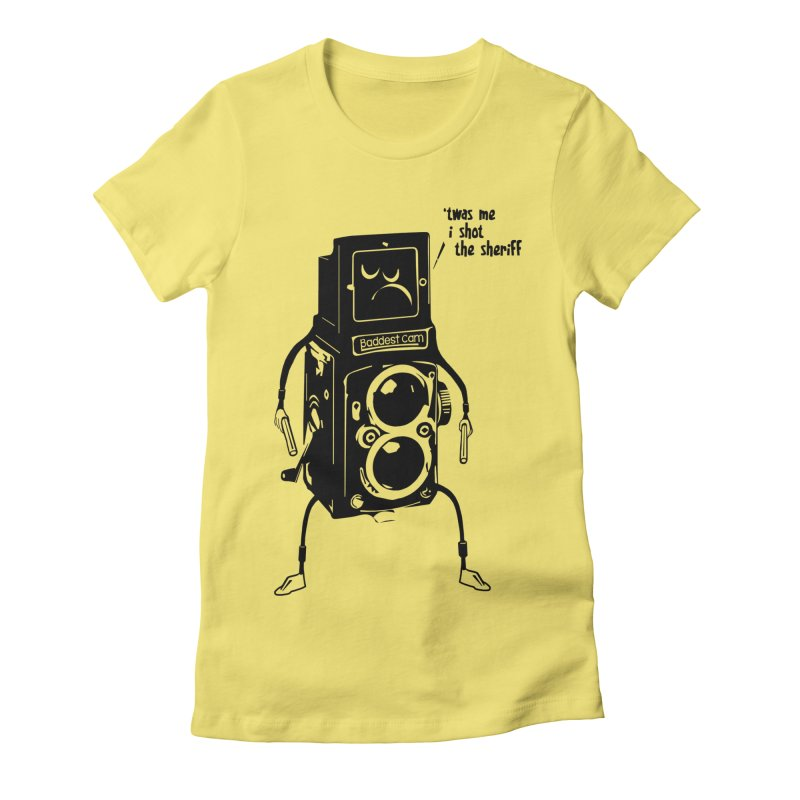 Bad Camera Women's Fitted T-Shirt by udegbunamtbj's Artist Shop