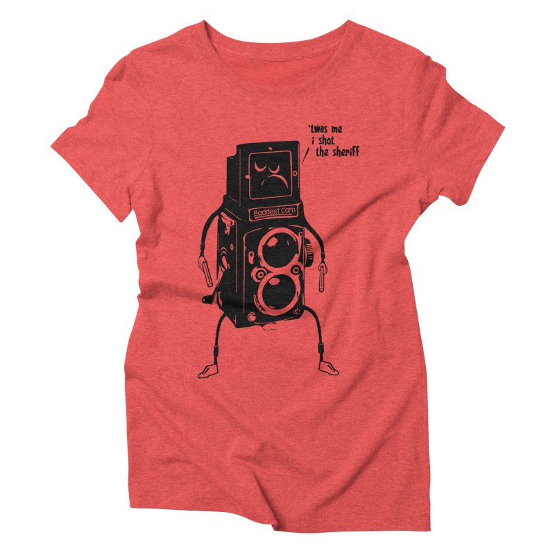Bad Camera Women's Triblend T-shirt by udegbunamtbj's Artist Shop