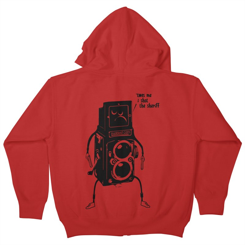 Bad Camera Kids Zip-Up Hoody by udegbunamtbj's Artist Shop