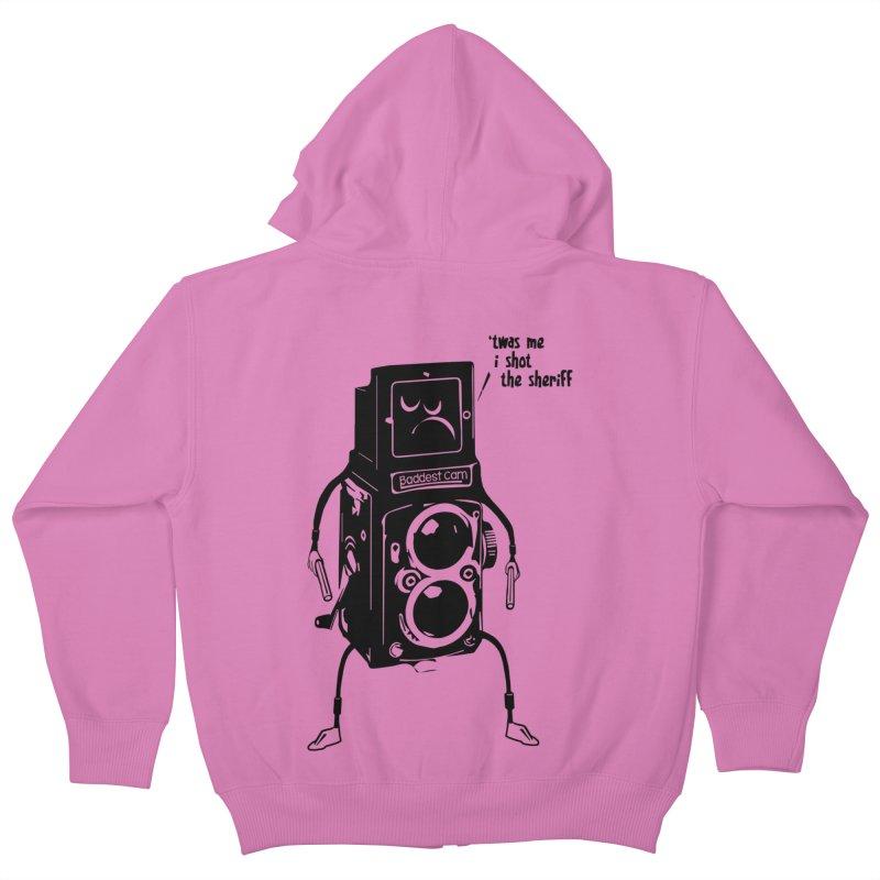 Bad Camera Kids Zip-Up Hoody by udegbunamtbj's Artist Shop