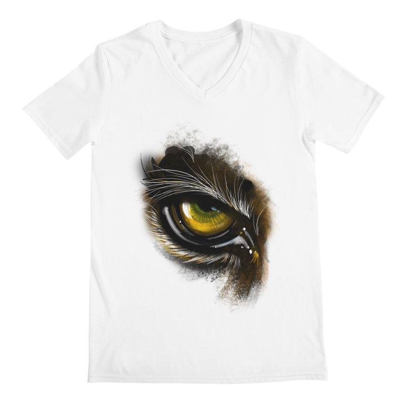 Eye Tiger Men's V-Neck by udegbunamtbj's Artist Shop