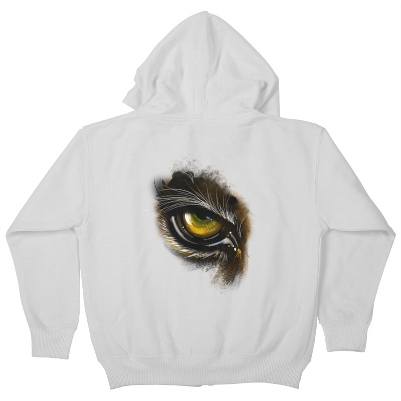 Eye Tiger Kids Zip-Up Hoody by udegbunamtbj's Artist Shop