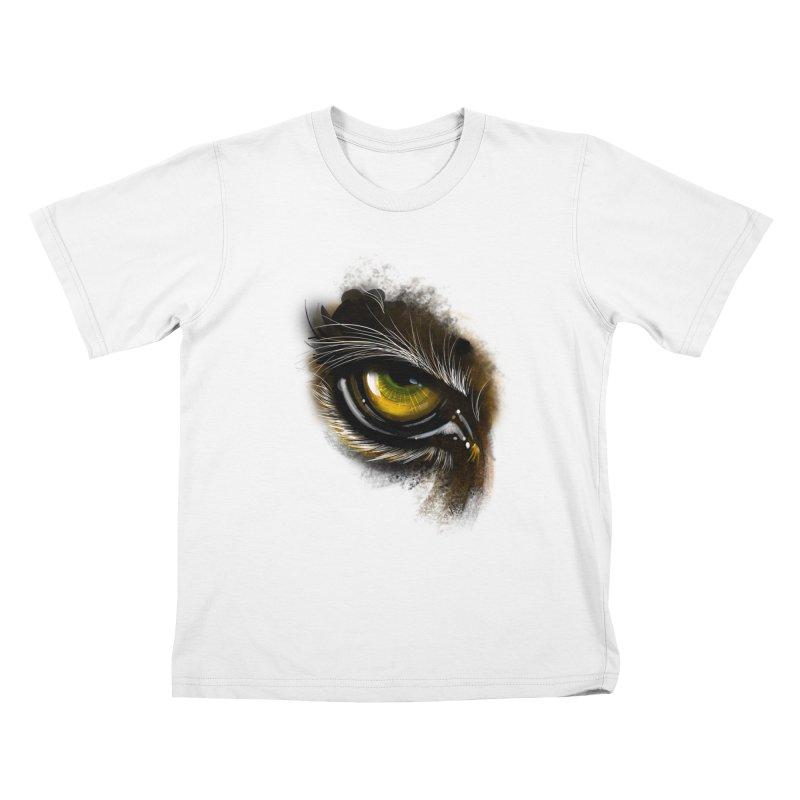 Eye Tiger Kids T-Shirt by udegbunamtbj's Artist Shop