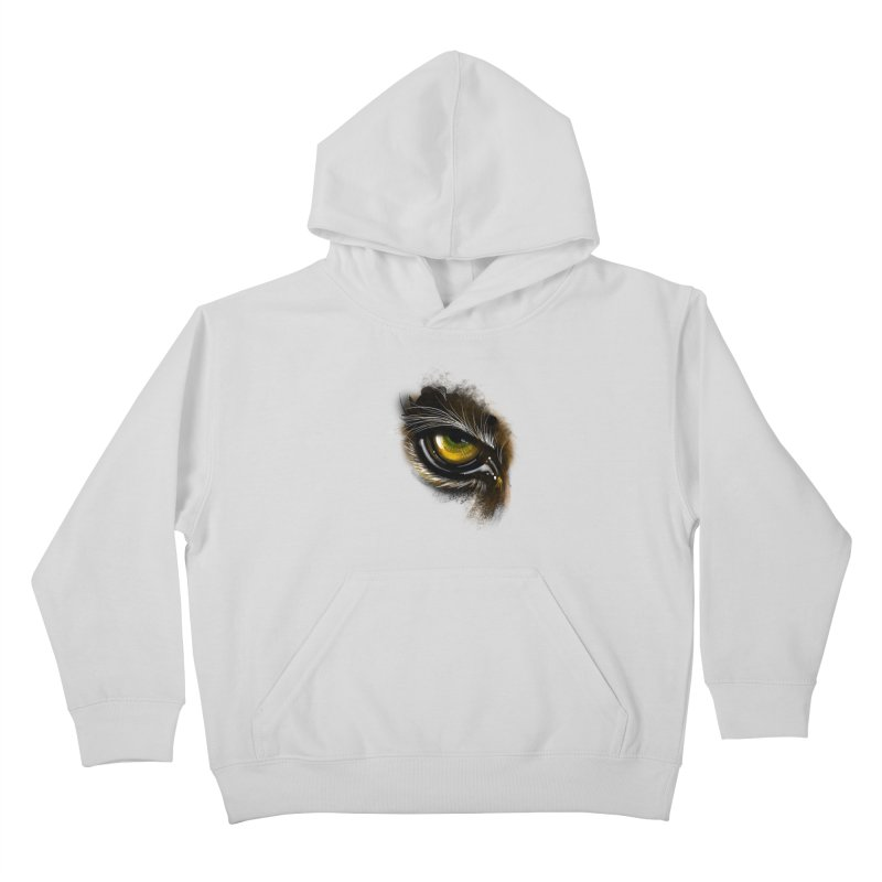 Eye Tiger Kids Pullover Hoody by udegbunamtbj's Artist Shop