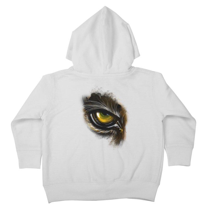 Eye Tiger Kids Toddler Zip-Up Hoody by udegbunamtbj's Artist Shop