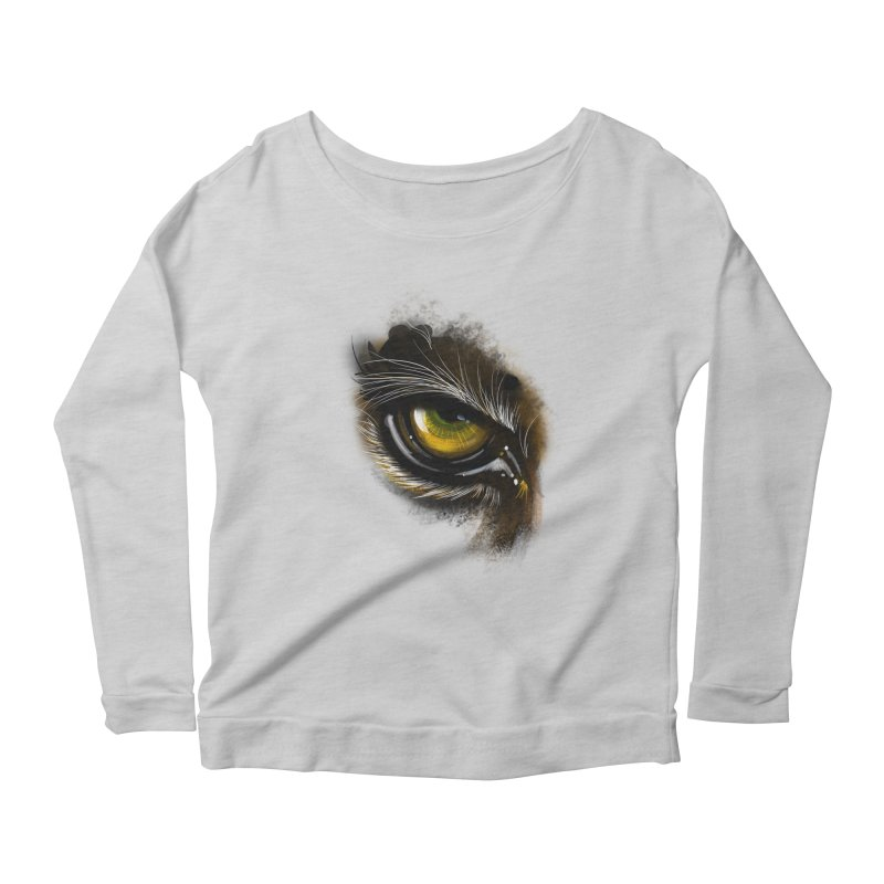 Eye Tiger Women's Longsleeve Scoopneck  by udegbunamtbj's Artist Shop