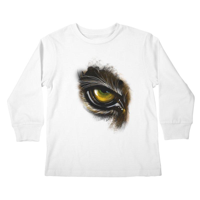 Eye Tiger Kids Longsleeve T-Shirt by udegbunamtbj's Artist Shop