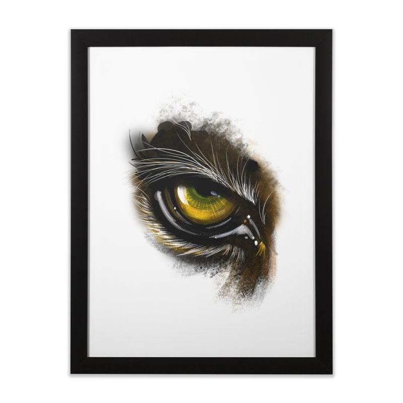 Eye Tiger Home Framed Fine Art Print by udegbunamtbj's Artist Shop