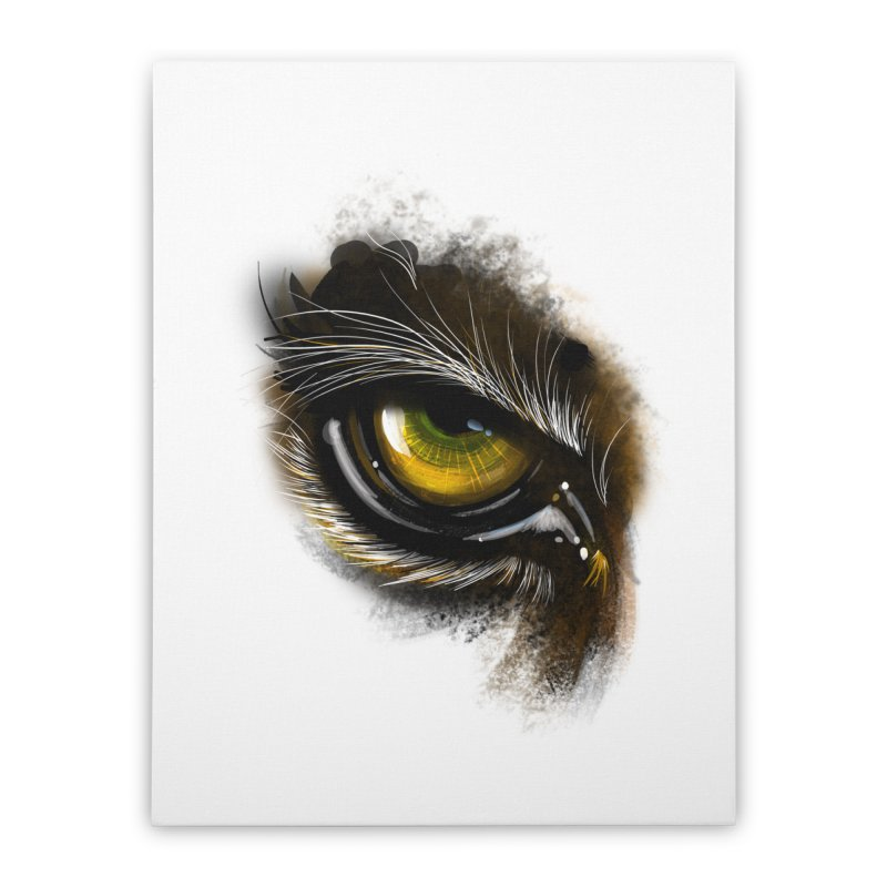 Eye Tiger Home Stretched Canvas by udegbunamtbj's Artist Shop