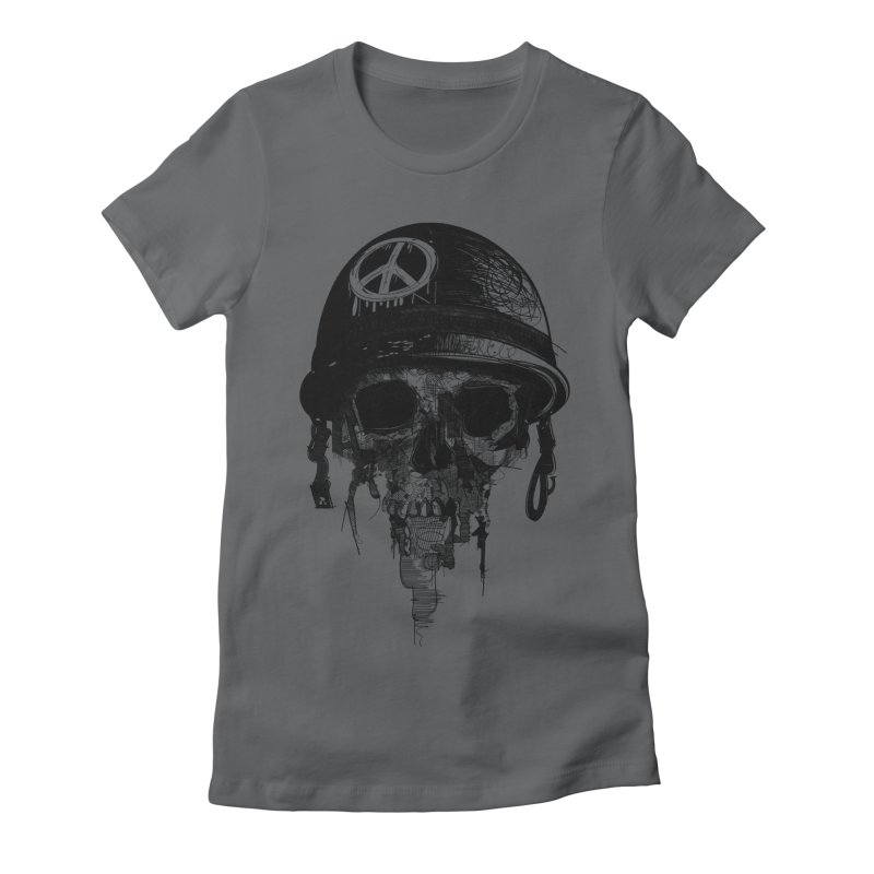 Peace Out Women's Fitted T-Shirt by udegbunamtbj's Artist Shop