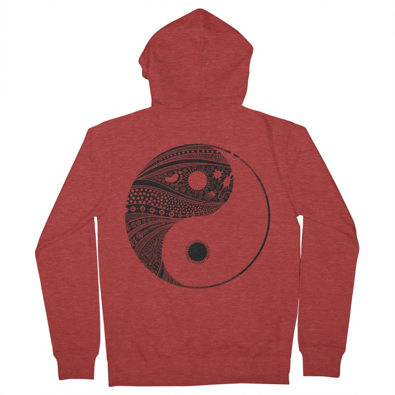 Ying Yang Women's Zip-Up Hoody by udegbunamtbj's Artist Shop