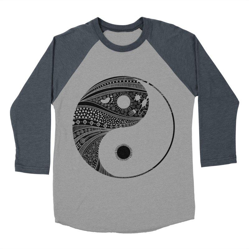 Ying Yang Men's Baseball Triblend T-Shirt by udegbunamtbj's Artist Shop