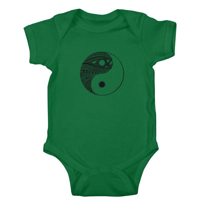 Ying Yang Kids Baby Bodysuit by udegbunamtbj's Artist Shop