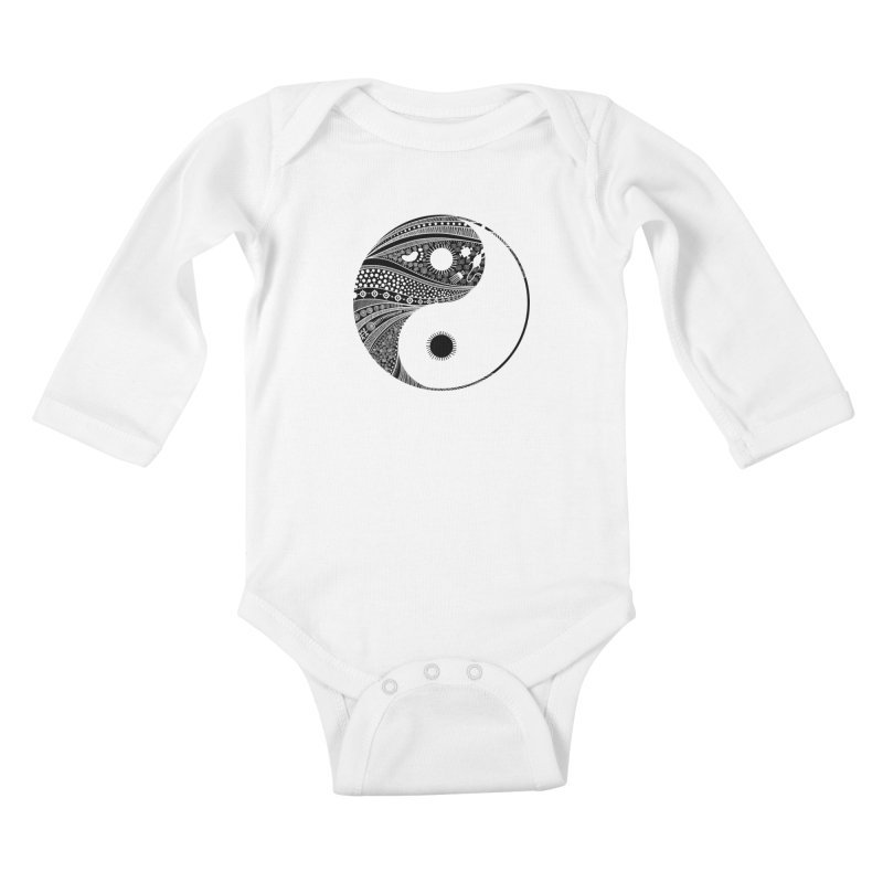 Ying Yang Kids Baby Longsleeve Bodysuit by udegbunamtbj's Artist Shop