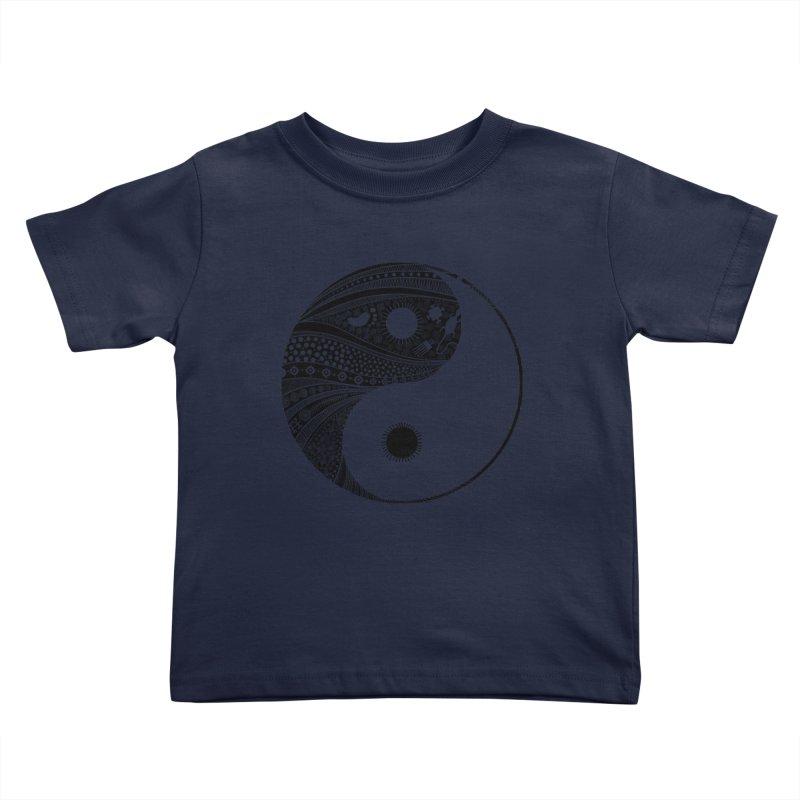 Ying Yang Kids Toddler T-Shirt by udegbunamtbj's Artist Shop