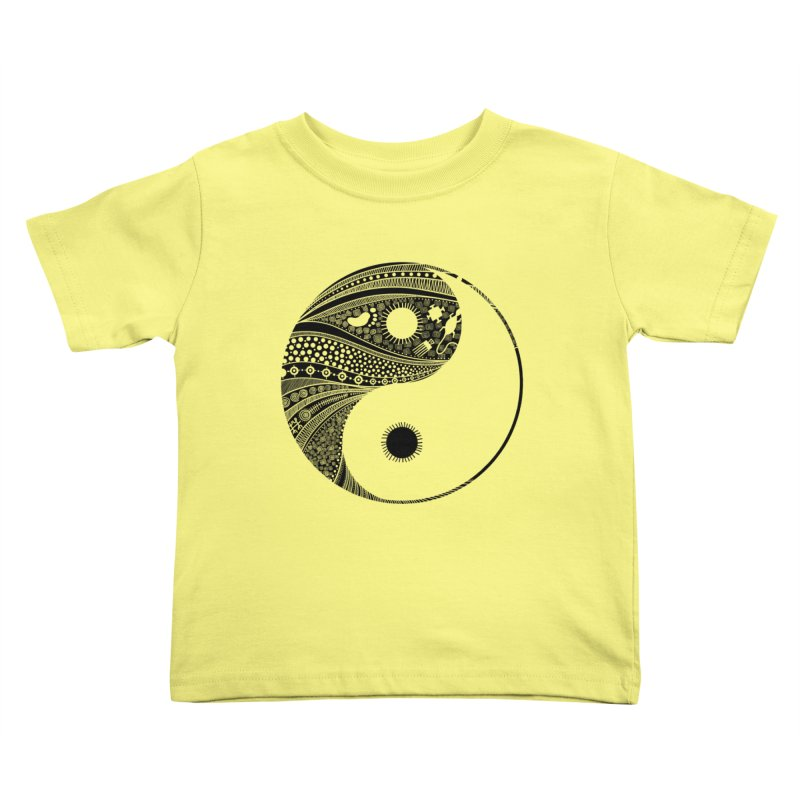 Ying Yang Kids Toddler T-Shirt by udegbunamtbj's Artist Shop
