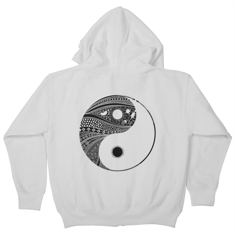 Ying Yang Kids Zip-Up Hoody by udegbunamtbj's Artist Shop