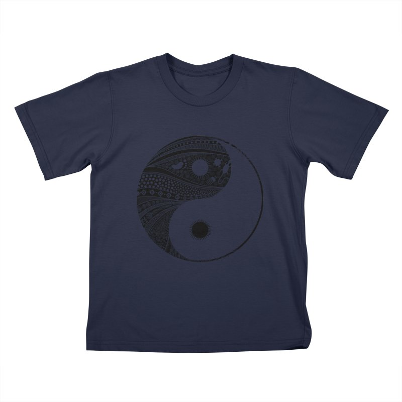 Ying Yang Kids T-Shirt by udegbunamtbj's Artist Shop