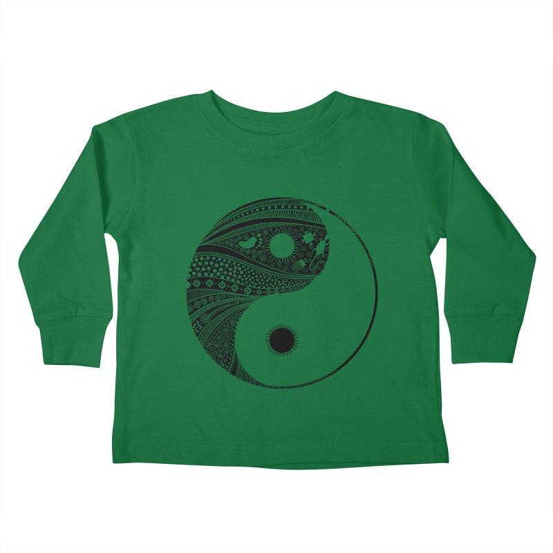 Ying Yang Kids Toddler Longsleeve T-Shirt by udegbunamtbj's Artist Shop