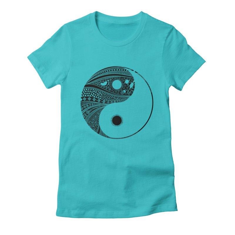 Ying Yang Women's Fitted T-Shirt by udegbunamtbj's Artist Shop