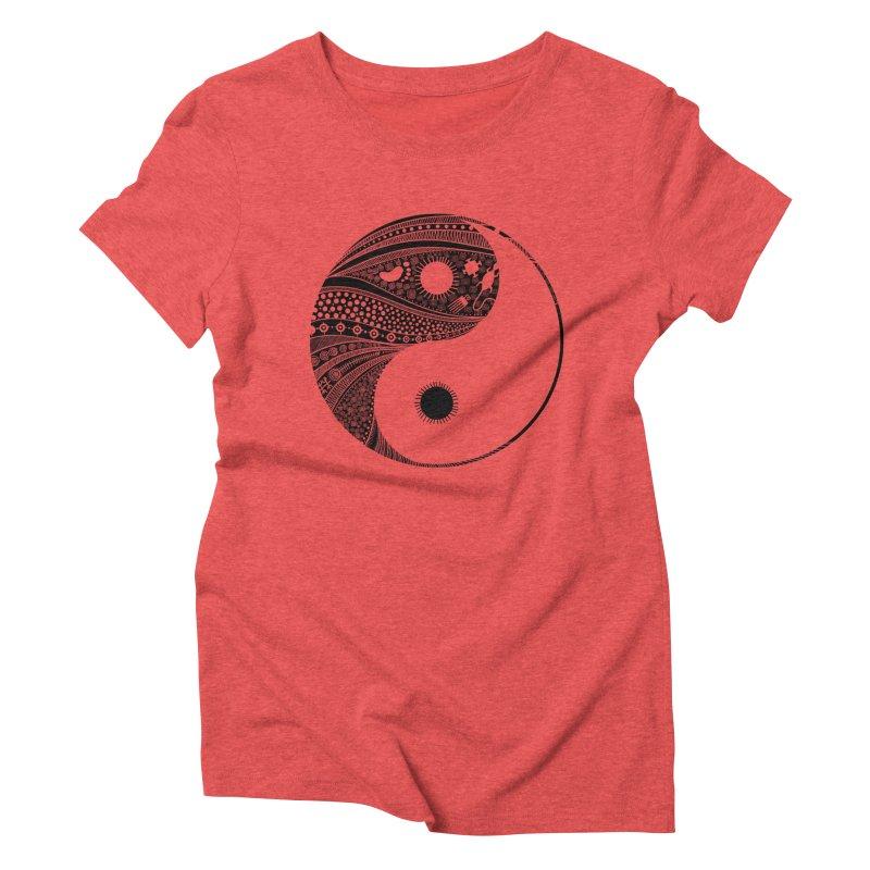 Ying Yang Women's Triblend T-Shirt by udegbunamtbj's Artist Shop