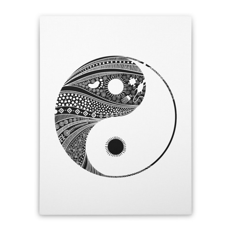 Ying Yang Home Stretched Canvas by udegbunamtbj's Artist Shop