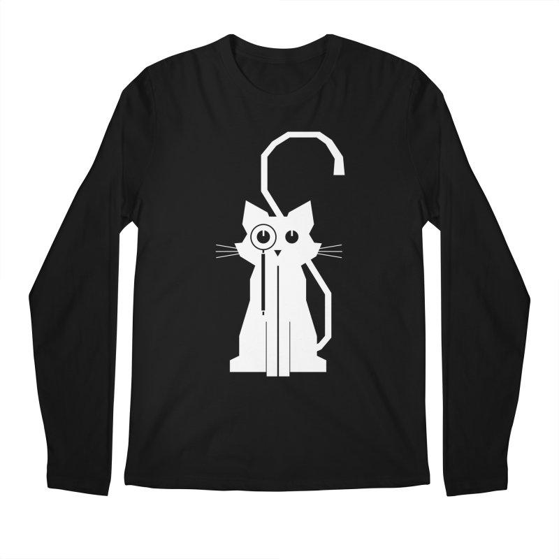 Smart Cat Men's Longsleeve T-Shirt by udegbunamtbj's Artist Shop