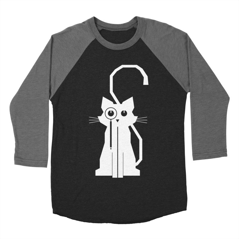 Smart Cat Men's Baseball Triblend T-Shirt by udegbunamtbj's Artist Shop