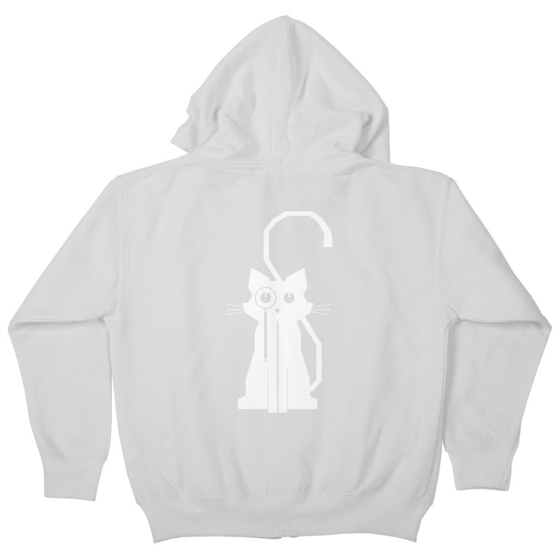 Smart Cat Kids Zip-Up Hoody by udegbunamtbj's Artist Shop